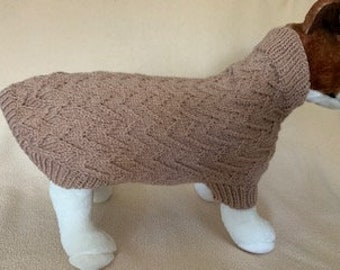 Chevron Dog Sweater - Small-Medium Sized Dog