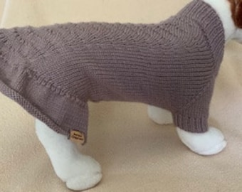 Lace Ruffle Sweater/Dress - Small Dog / Large Cat Size  - Can be Custom Knit in the Colour of Your Choice