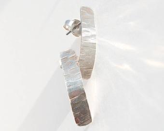 Silver Post Earrings, Stud Earrings, Small Earrings, Hammered Silver, Post Earrings, Silver Post Earrings, Minimalist Earrings, Gift for Her