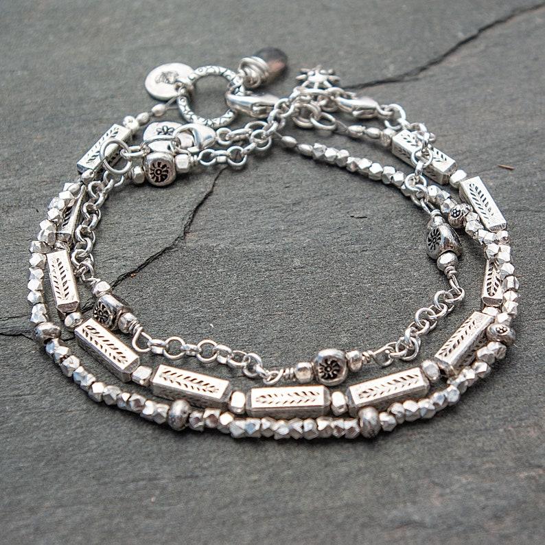 Sterling Silver Bracelet Silver Bracelet Leaf Bracelet Hill ALL 3