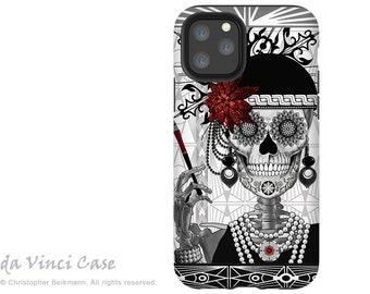 Mrs Gloria Vanderbone - Flapper Girl Sugar Skull - iPhone 13 / iPhone 13 Mini / iPhone 13 Pro  / iPhone 13 Pro Max / Dual Layer Tough Case