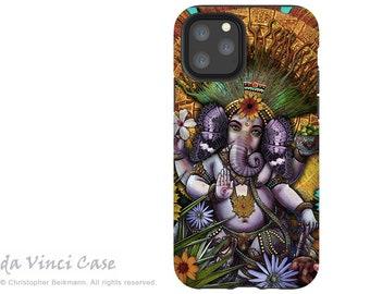 Ganesha Maya - iPhone 13 / iPhone 13 Mini / iPhone 13 Pro  / iPhone 13 Pro Max / Dual Layer Tough Case - Hindu Mayan Floral Ganesh Art