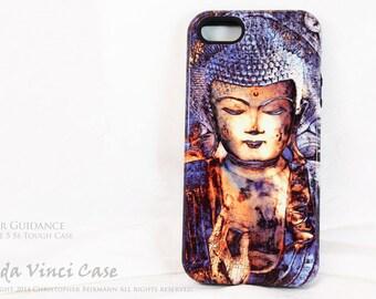 Buddha iPhone 5s SE Case - Inner Guidance - Zen iPhone TOUGH Case with Blue Buddha Yoga - Meditation Art - Buddhist iPhone SE Case