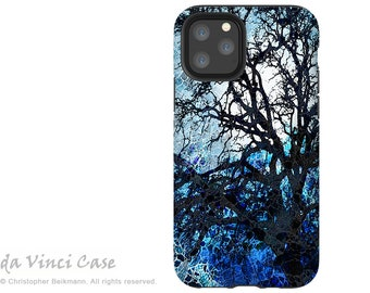 Blue Moonlit Night - Abstract Tree Art Case for iPhone 13 Mini / iPhone 13 /  iPhone 13 Pro  / iPhone 13 Pro Max - Dual Layer Tough Case