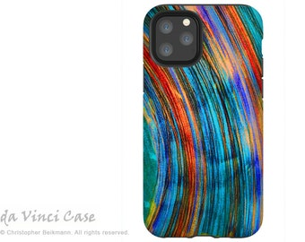 Saturno - Colorful Abstract  Case for iPhone 13 Mini / iPhone 13 /  iPhone 13 Pro  / iPhone 13 Pro Max / Dual Layer Tough Case