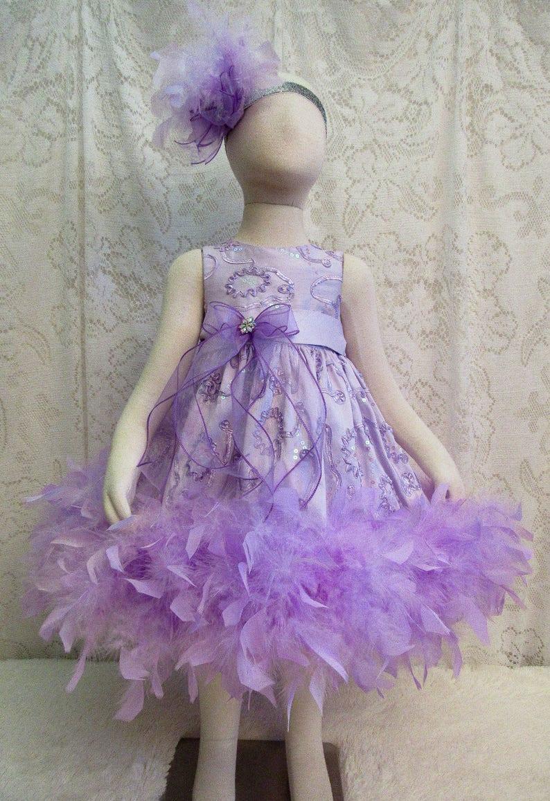 f808d5f20b0b 18 24 mo. Lavender Soutache & Sequin Feather Dress Summer | Etsy