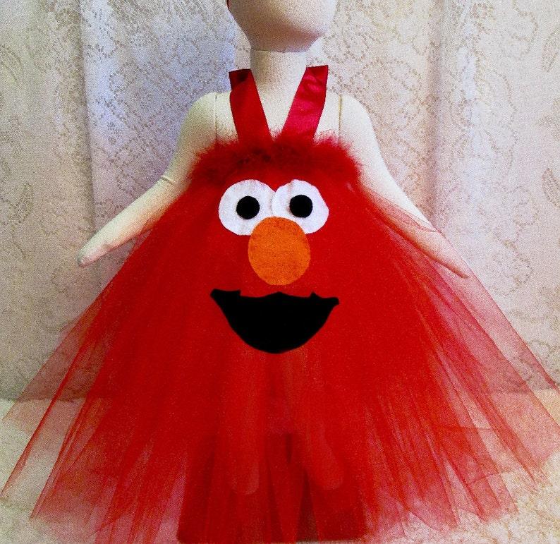 Fits Sz 12 24 Mo Elmo Halter Style Tutu 1st Or 2nd Birthday