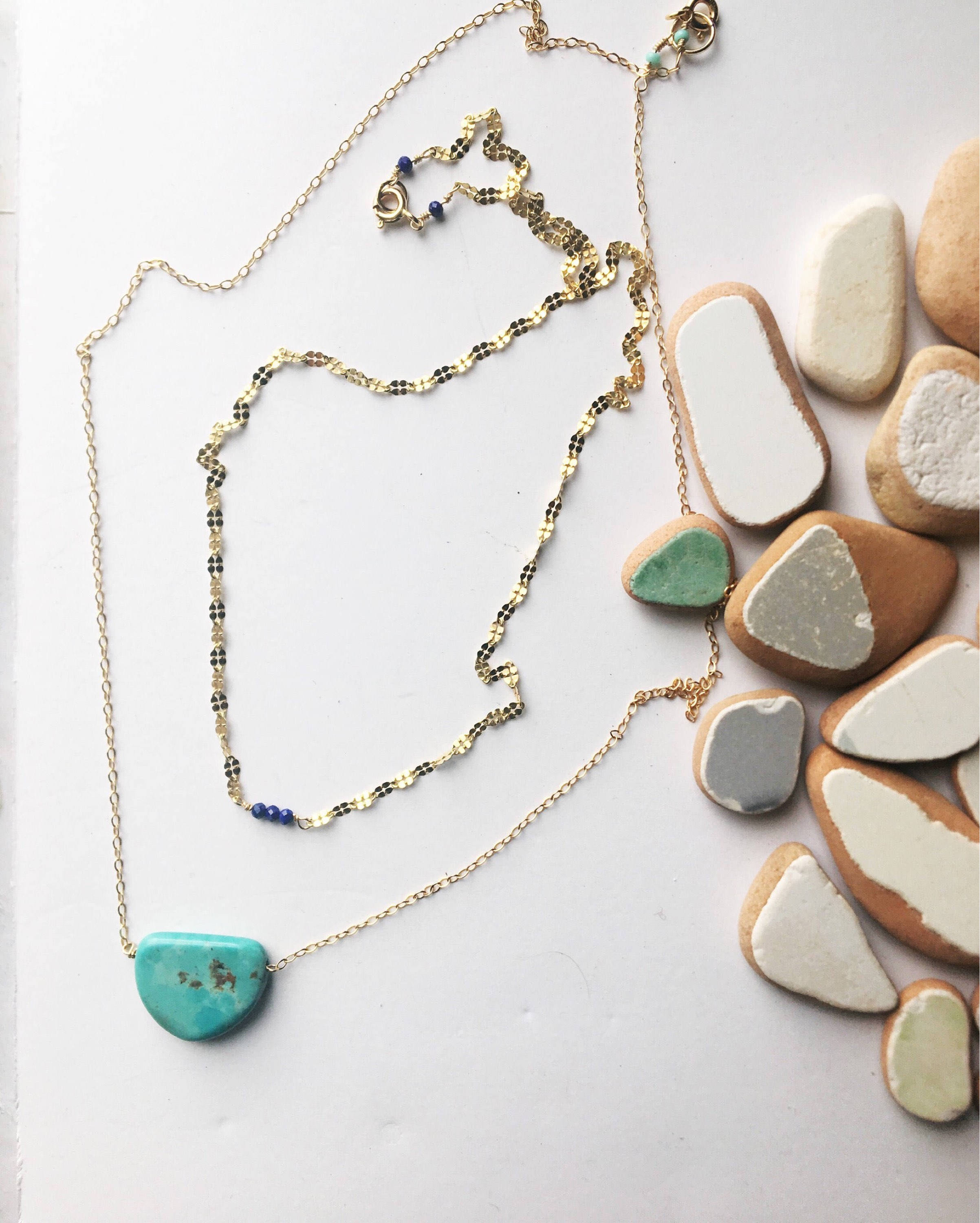 3956fc100c3 Turquoise half moon necklace