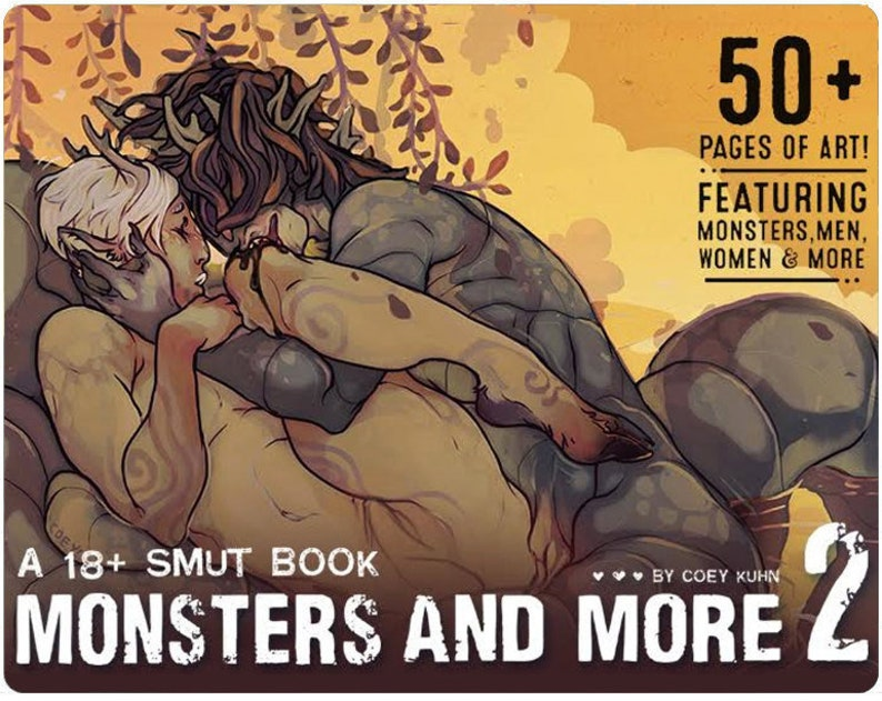 Coey: PHYSICAL COPY Monsters & More vol. 2 Mature Artbook image 0