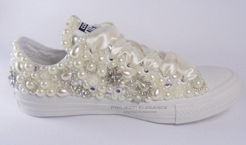 3ad0d800cf6d Wedding converse bling converse custom converse bridal