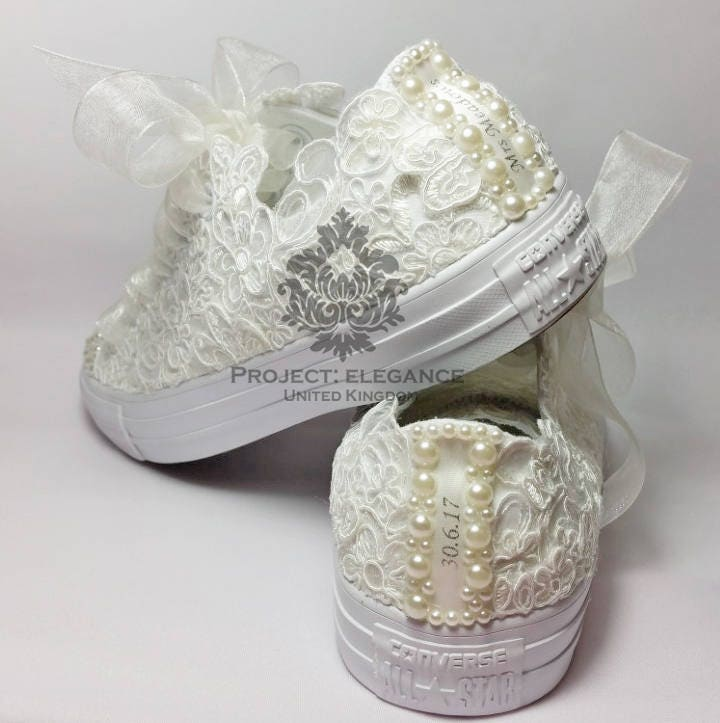 771c82c19 ... reduced personalised lace converse date name wedding converse bling  converse custom converse bridal converse pearl converse