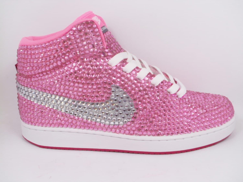 49f566ab2277 Custom Pink Nike Shoes as made for Trisha Paytas Rhinestone Nike