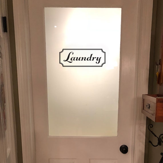 Laundry Vinyl Decal Laundry Room Decal Glass Door Decal Etsy