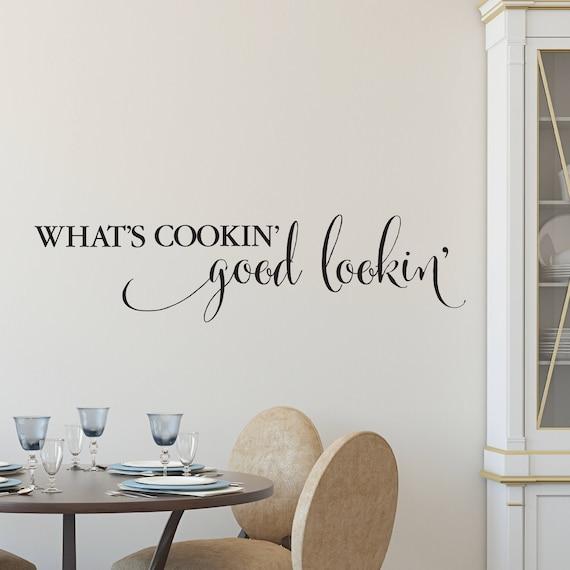 was ist cookin 39 gut sieht wandtattoo vinyl k che etsy. Black Bedroom Furniture Sets. Home Design Ideas