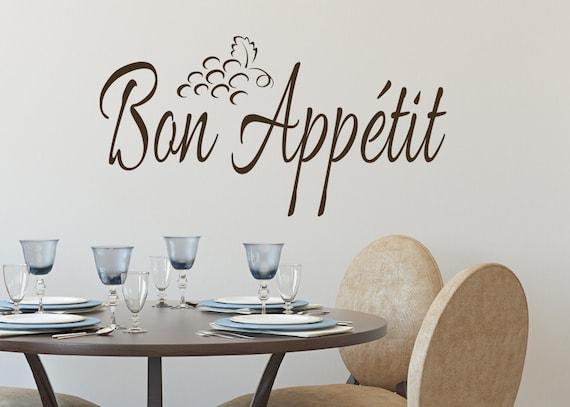 Bon appétit keuken muur vinyl decal muur belettering keuken etsy