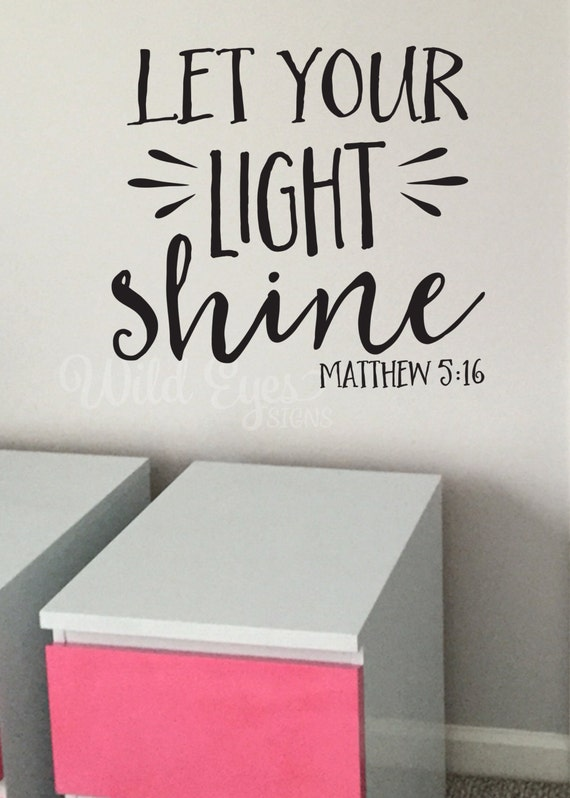 Matthew 5 16 Let Your Light Shine Youth Room Church Decor Etsy