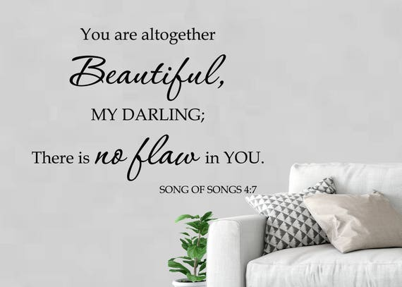 Song Of Solomon 6060 Bible Verse Love Quote Beautiful Saying Etsy Interesting Bible Verses Love Quotes