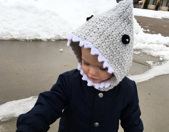 Häkeln Sie Shark Kapuze Kinder Hai Haube Hai Hut | Etsy