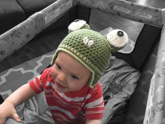 Handgefertigte Baby Frosch Hut Frosch Mütze häkeln