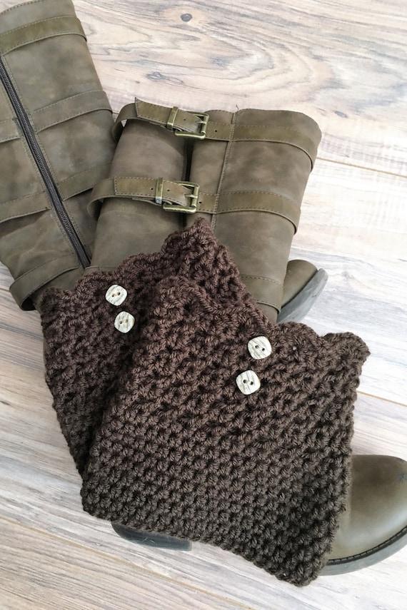Crochet el manguito arranque manguito arranque marrón ancho | Etsy