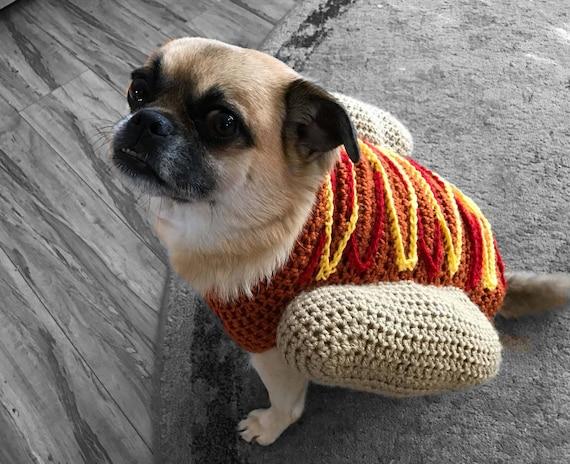 Hotdog Pullover Hund Kostüm häkeln Hundepullover Welpe Shirt | Etsy