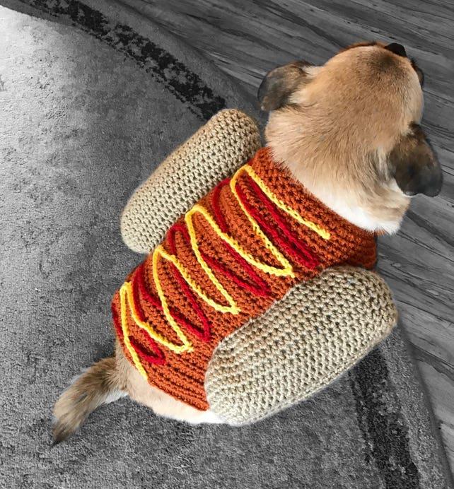 Hotdog Pullover Hund Kostüm häkeln Hundepullover Welpe Shirt   Etsy