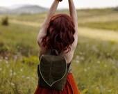 Army Green Leaf Waterproof Everyday Backpack PRE ORDER