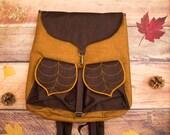Brown Waterproof Bohemian Backpack Pre order