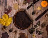 Dark Brown Leaf Shoulder Bag Pre Order