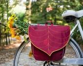 Red-Gold Leaf Waterproof Pannier Pre Order