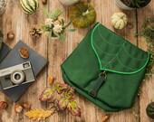 Dark Green Leaf Waterproof Backpack Pre order