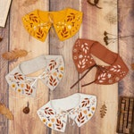 Autumn Leaf Embroidered Linen Collar PRE ORDER