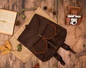 Dark Brown Waterproof Women's Backpack, Leaf Backpack, Collage Backpack, School Backpack, Bohemian Backpack, Pre Order