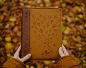 Autumn Girl Embroidered Cork Leather Bullet Journal, Refillable A5 Planner and Notebook Organiser PRE ORDER