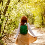 Emerald Green Waterproof Backpack for Nature Lovers
