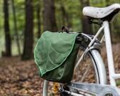 Army Green Leaf Waterproof Bicycle Bag, Pannier Bag PRE ORDER