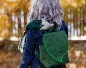 Emerald Green Waterproof Leaf Backpack for Nature Lovers PRE ORDER
