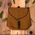 Coffee Brown Mini Backpack with a Cute Leaf Motif, Durable Woodland Gift, Waterproof Small Backpack