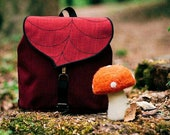 Red Leaf Mini Backpack,Small Waterproof Backpack for Girls PRE ORDER