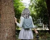 Silver - Black Leaf  Waterproof Backpack, Leafling Bags Midi Backpack, Pre Order