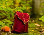 Autumn Leaf Backpack for Woman or Girls in Burgundy-Gold pre order