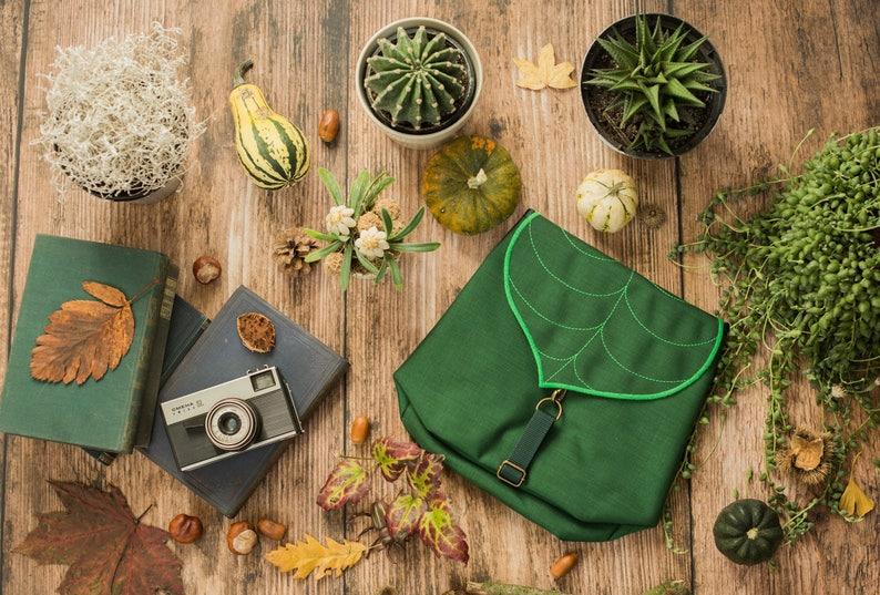 Personalized Leaf Waterproof Mini Backpack PRE-ORDER image 0