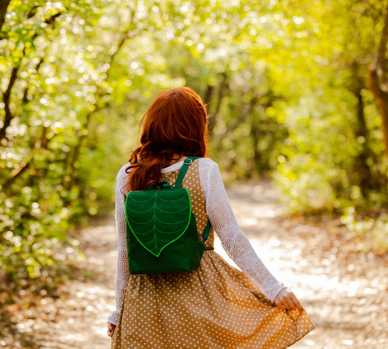 Emerald Green Waterproof Backpack for Nature Lovers image 0