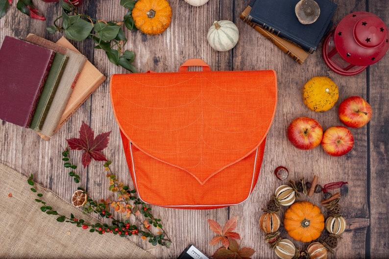 Orange Waterproof Bicycle Pannier Bag image 0