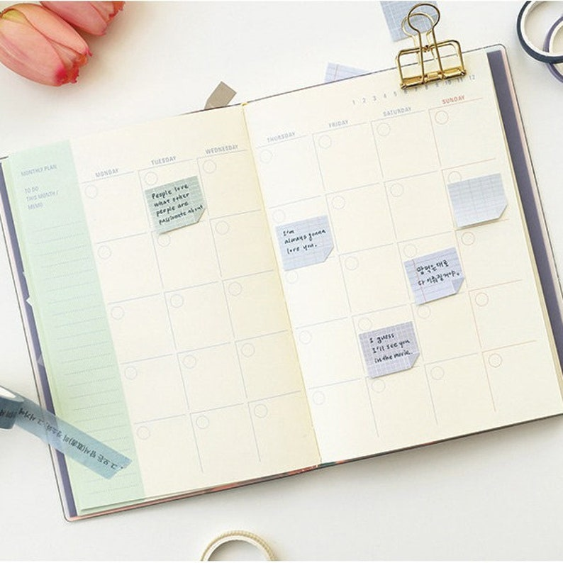 planner sticky notes memo notepad sticky notepad Note small sticky memo set for monthly and weekly plan sticky it