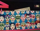 Frida Kahlo apron Day of the Dead apron Sugar skulls apron Dia de los Muertos apron server apron vendor apron