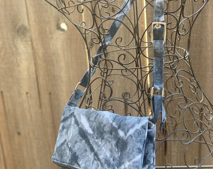 Fold over crossbody bag - lightweight travel purse - shoulder bag - fabric handbag