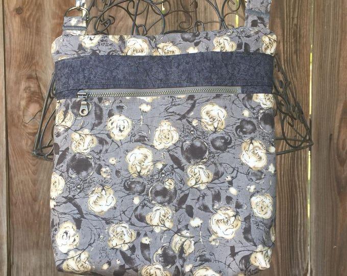 Cross Body Bag, Across The Body Bag, Fabric Purse, Cross Body Purse, Adjustable strap, long handle purse, Travel Purse, Zippered Purse