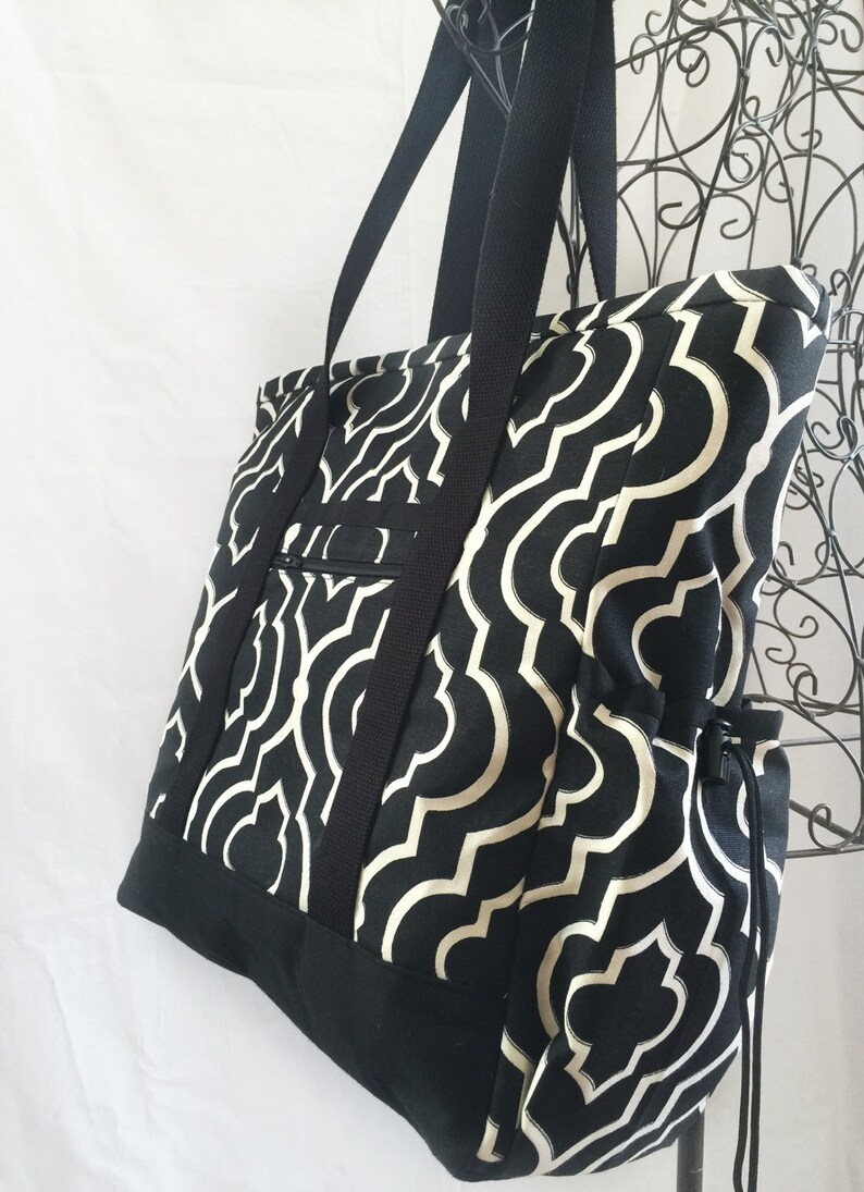 Large Tote with Pocket Large Tote with zipper Teacher Tote Professional Tote Diaper Bag with pockets Work Tote Carry On Travel Tote