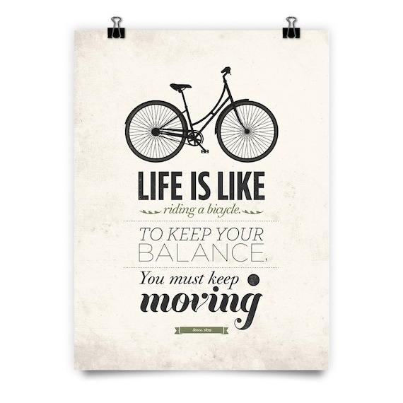 Albert Einstein Quote Art Quote Print Life Is Like Riding A Etsy Classy Quotes About Art And Life